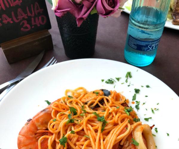 Špageti s plodovima mora