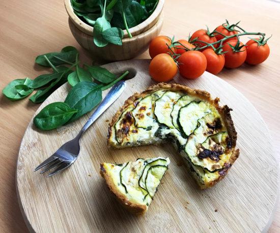 Quiche od špinata i svježeg sira